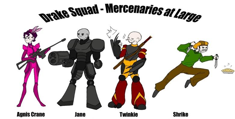 Drake Squad Mercenaries at Large-small