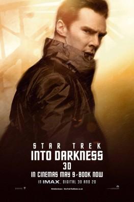 Star Trek Into Darkness Character Portrait Theatrical One Sheet Movie Poster Set - Benedict Cumberbatch as John Harrison