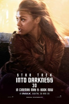 Star Trek Into Darkness Character Portrait Theatrical One Sheet Movie Poster Set - Zoe Saldana as Nyota Uhura