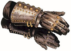 simple leather gloves