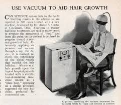 This seems like a much safer cure for male-pattern baldness. A bit bulky, but men do like to sit and read the paper...